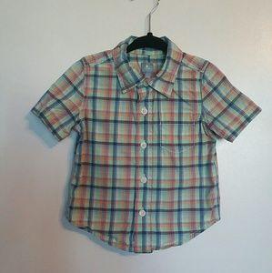 Boys Baby Gap Short Sleeve Plaid Shirt